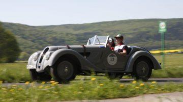 Sachs Franken Classic Oldtimer-Tour, Bad Bocklet, Rhön, Unterfranken, Bayern, Deutschland