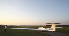 Segelflugplatz in Salz, Rhön-Grabfeld, Unterfranken, Bayern | gliding airfield in Salz, Rhön-Grabfeld, Franconia, Bavaria, Germany